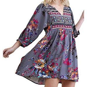 Umgee floral peasant dress tunic